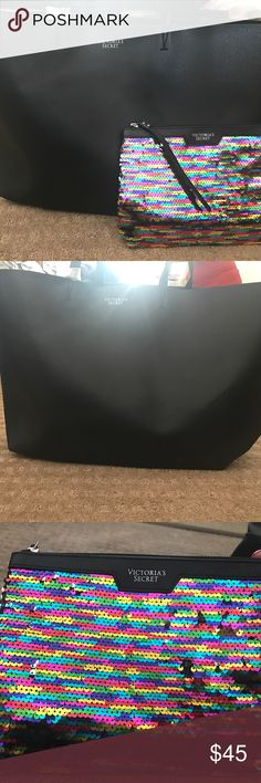 2 Victoria secret bag Brand new. Never used. No flaws. Comes with both Victoria's Secret Bags Totes