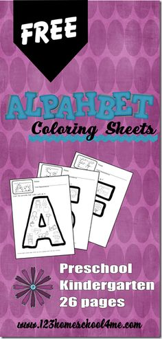 FREE Phonics Alphabet Coloring Sheets #alphabet #preschool #kindergarten #coloringpages #worksheetsforkids #homeschool #education