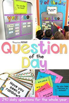 Question of the Day: For KIDS! A DIY Question of the Day Board