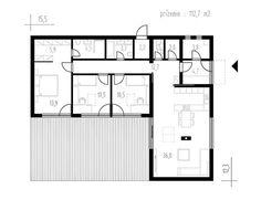 Small Modern House Plans, Unique House Plans, Small House Design, Modern House Design, House Layout Plans, House Layouts, L Shaped House Plans, Modern Bungalow House, Bungalow 5