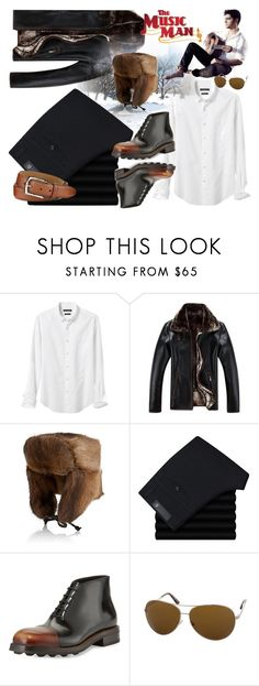 """""""Business or Music Man"""" by ladyscarlet01 ❤ liked on Polyvore featuring Banana Republic, Crown Cap, Prada, Tom Ford, Neiman Marcus, men's fashion and menswear"""