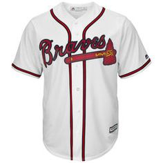 Atlanta Braves Majestic Youth Official Cool Base Jersey - White