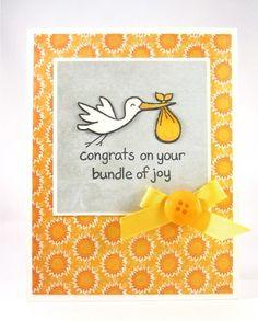 Lawn Fawn - Plus One _ cheerful card by Elizabeth Stork Bundle of Joy Card | Flickr - Photo Sharing!