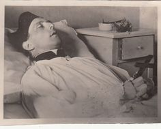 A young priest on his deathbed