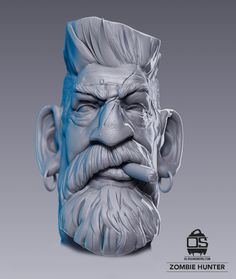 3D Characters Sculpted in Zbrush by Ola Sundberg, via Behance