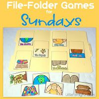 Little Family Fun: File Folder Games: Sundays (would be helpful for during worsh. - Little Family Fun: File Folder Games: Sundays (would be helpful for during worship time) - Church Games, Church Activities, Bible Activities, Kids Church, Sunday Activities, Church Ideas, Toddler Activities, Toddler Fun, Indoor Activities
