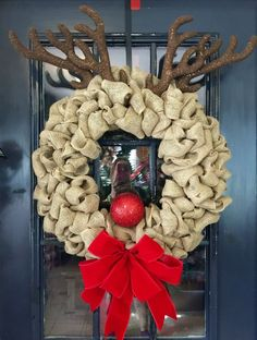 Elegant and Easy Christmas Wreaths Diy Decorations - Onechitecture Holiday Wreaths, Christmas Decorations, Christmas Ornaments, Burlap Christmas, Christmas Swags, Reindeer Christmas, Winter Wreaths, Spring Wreaths, Etsy Christmas