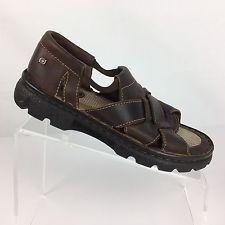 c32f74b89772 Born Womens Sandals Size 7 Brown Leather Fisherman Slip On Flat Comfort  Shoes Flip Flop Sandals