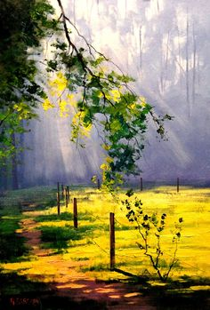 Australian Impressionist Landscape painter-Graham Gercken 1960 - Fine Art and You - Painting Impressionist Landscape, Landscape Oil Paintings, Scenery Paintings, Abstract Oil Paintings, Deep Paintings, Watercolor Landscape Paintings, Landscape Artwork, Landscape Drawings, Watercolour Painting