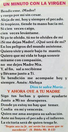 Faith Prayer, God Prayer, Catholic Prayers In Spanish, Catholic Pictures, Catholic Religion, Prayer Board, Daily Affirmations, Spiritual Inspiration, Dear God