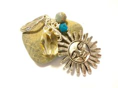 Sun Goddess Mystical Keychain Wire Wrapped Citrine by YoursTrulli