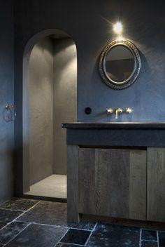landelijk badkamermeubel - landelijke badkamer  Taps & Baths