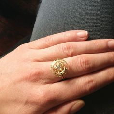 Gold ring by Shimell and Madden