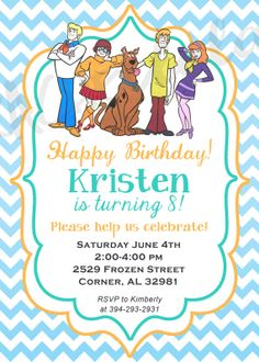I Do On A Dime Scooby Doo Party Wades 4th Birthday Pinterest