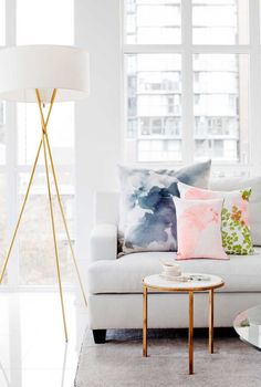 How CUTE are these watercolor pillows?!