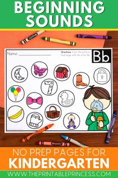 Fun addition to literacy centers! This packet is perfect for a quick, no prep way to informally assess beginning sounds. You could also use these beginning sounds worksheets for early finishers, as homework, or a morning work activity. Great for busy teachers, just print and go!