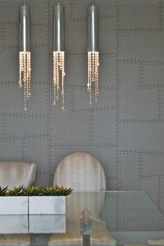 The Studio Interiors   Phillip Jeffries wallpaper Aviator 5755 Quimby Steel
