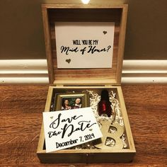 I had the BEST time crafting my Bridesmaid Boxes 😍 Check out my story/wedding prep tab for a more detailed process 🎨 Bridesmaid Proposal Box, Bridesmaid Boxes, Bridesmaids, December 7, Wedding Prep, Prepping, Crafting, Good Things, Frame