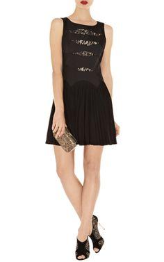 Karen Millen DP150 Lace and Jersey Dress Sale