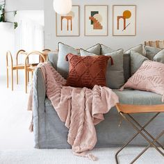 Enhance your living space with fun tassels and tufted textural pieces with the Quinn Cushion from Bambury. Boho Cushions, Throw Cushions, Pillows, Boho Theme, Neutral Colour Palette, Home And Living, Living Spaces, Bedroom Decor, Blanket