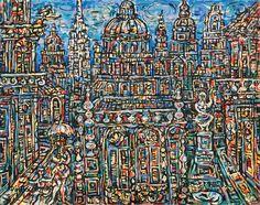 Landscape of Havana, 1969 by Rene Portocarrero. Modernismo. cityscape