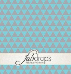 Grey on Blue Tribal Triangles Photography Backdrop For by FabDrops