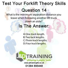 Forklift question of the day 14 from http://ift.tt/1HvuLik #forklift #training #safety #jobsearch