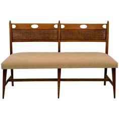 Decorative Italian Bench by Paolo Buffa, Italy. | From a unique collection of antique and modern benches at http://www.1stdibs.com/furniture/seating/benches/