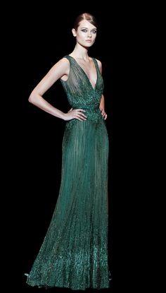 Creación esmeralda - Vestidos de Fiesta 2014 para invitadas de Elie Saab