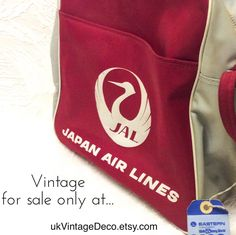 Japan Airlines Crew Travel Bag  1970s Vintage for sale...   #Loveit #Musthave #Musthaves #ootd #chic #trend #photooftheday #datenight #fashion #worldcoinjewelry #vintagechic