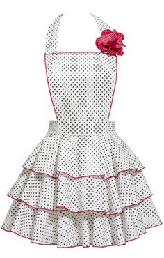 Petite+Dot+Party+Apron+in+White++[CK-WhitePetiteDot]+-+$61.00+:+Manhattanite