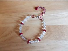Clear quartz and chainmaille bracelet £7.50
