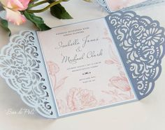 Big Set Cricut Wedding Invitation Template Gate Fold Card Envelope