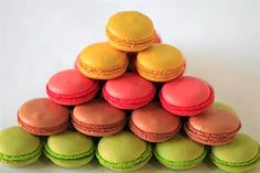 Image detail for -Traditional French dessert. Multicolored macaroon cookies served on a ...