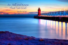 South Haven Lighthouse 4 / Psalm 46:10 - Photograph at ...