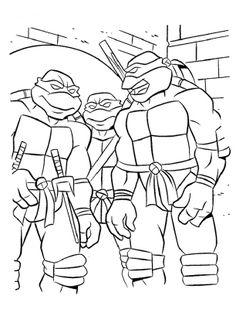 teenage mutant ninja turtles, : teenage mutant ninja turtles gang ... - Ninja Turtle Pizza Coloring Pages