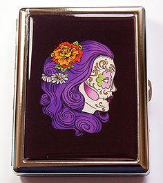Día de Muertos Cigarette box Cigarette Case Day by KellysMagnets