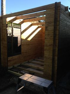 """""""After we found out my wife was pregnant with twins I knew I would have to move my office out of the house and into an office in the garden. I built this"""" - Mark Brackley"""