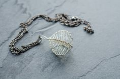 Necklace Pendant - Bush Willow - in Warm Silver on Etsy, 232:40kr