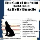 """Set of activities for use with """"The Call of the Wild"""" by Jack London. Includes graphic organizers, reading and critical thinking questions, chapter review activity, Book Cover project, Literary Essay with three topics to choose from, a letter writing activity plus a set of 16 culminating projects with Task Cards and Student Contract. This activity bundle provides many activities to meet the needs of your classroom. $"""