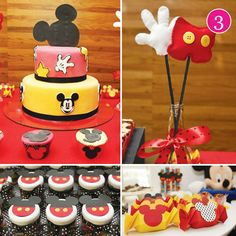 A Mickey Mouse themed birthday! How ideal for your Disney child! :)