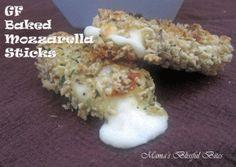 Gluten Free Baked Mozzarella Stick