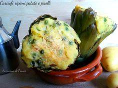 Carciofi ripieni patate e piselli Ricetta per S.Stefano4