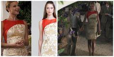 Revenge - Serie TV - moda - style - look - inspiration - inspiração - fashion - dress - vestido - red and gold - vermelho e dourado - Carolina Herrera - elegante - elegant - chic - Amanda Clarke - Emily Thorne (Emily VanCamp) - Daniel Grayson (Josh Bowman)