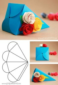 Mug Box – structural packaging design dielinesfolding boxes: origami books - crafts ideas - crafts for kidsPedestal Box - Packaging & Dielines: The Designer's Book of Packaging DielinesFree Printable - Origami Crystal Box + Tutorial, 9 free printab Diy Gift Box, Diy Box, Diy Gifts, Gift Boxes, Favour Boxes, Diy Paper Bag, Paper Gifts, Paper Gift Box, Diy Origami