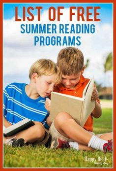 Here is a fantastic list of FREE summer reading programs for kids! Your local library is on this list - but there are a bunch of other national incentive programs to help keep kids reading this summer! Check it out! Reading Programs For Kids, Summer Reading Program, Summer Reading Lists, Kids Reading, Reading Books, Reading 2016, Reading Tips, Summer Activities For Kids, Summer Kids
