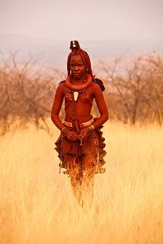 Respecting Culture: #Himba - An ethnic group living in northern Namibia, in the Kunene region, Africa.
