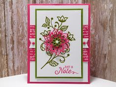 Peanuts and Peppers Papercrafting: Try It Thursday - Stampin' Up! Flourishing Phrases Just A Note Card