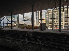 Sideview from Rotterdam Central Station