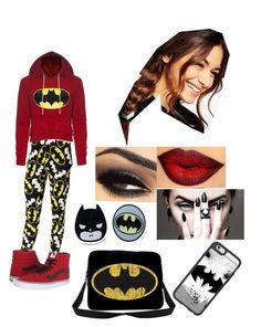 Batman Attire by isasaurus on Polyvore featuring polyvore, fashion, style, Bioworld, Vans, ASOS, Casetify and clothing